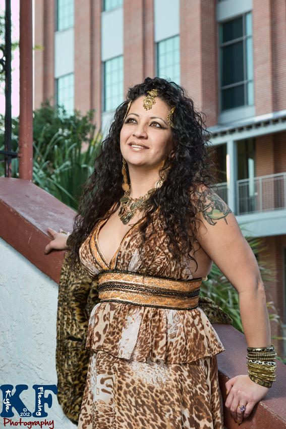 Portrait of Melissa in Ybor City, Florida