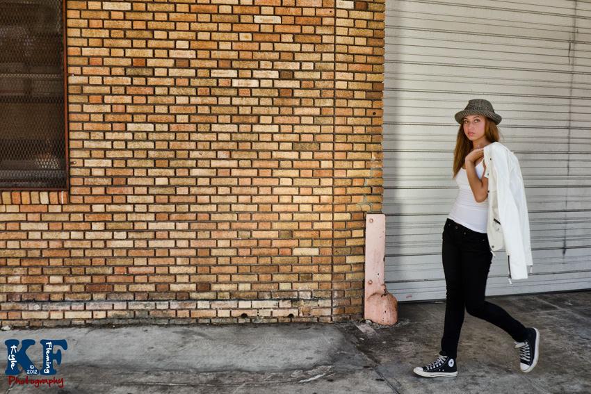 Teenager walking St. Petersburg